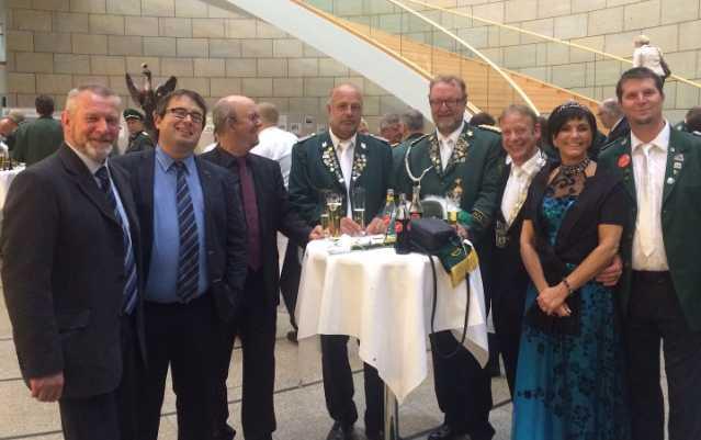 Bruckhausener Bürgerschützen zum Empfang im Düsseldorfer Landtag